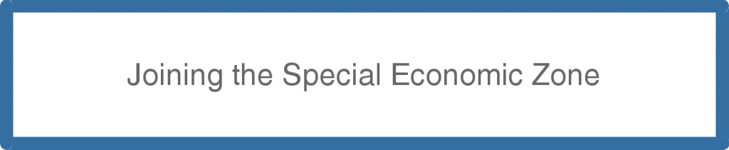 Joining the Special Economic Zone